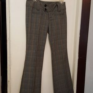 Pants - Spacegirlz  plaid grey hipster pant